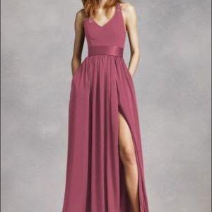 David's bridal - Vera Wang long bridesmaids dress